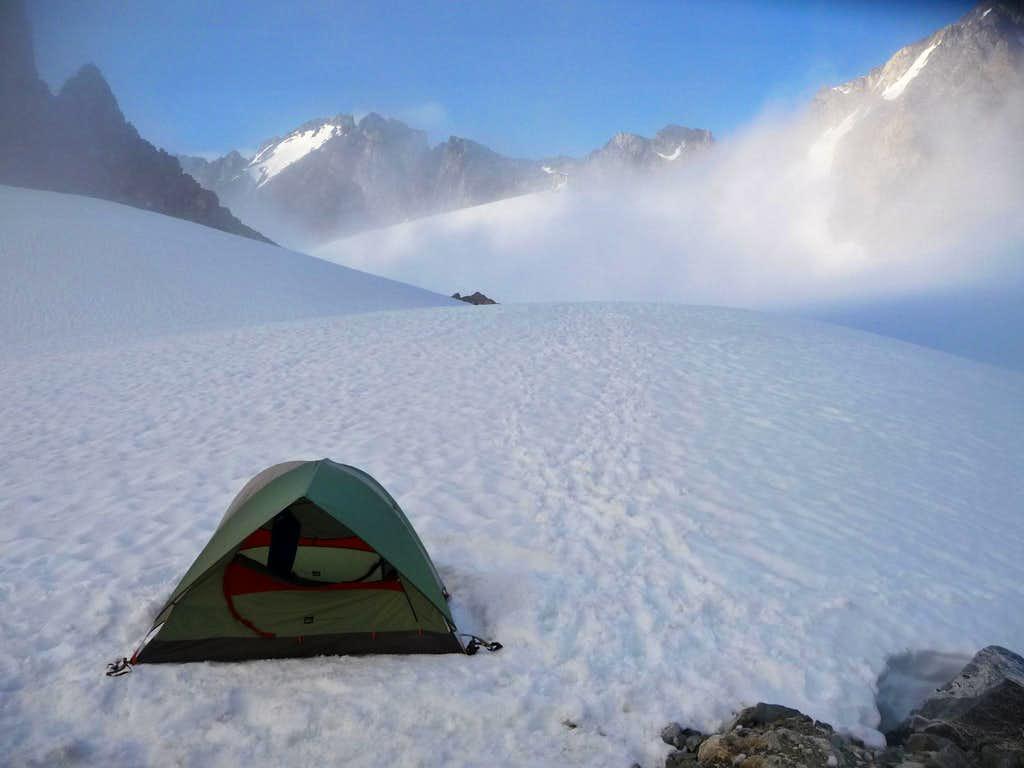 Camping on Mount Logan