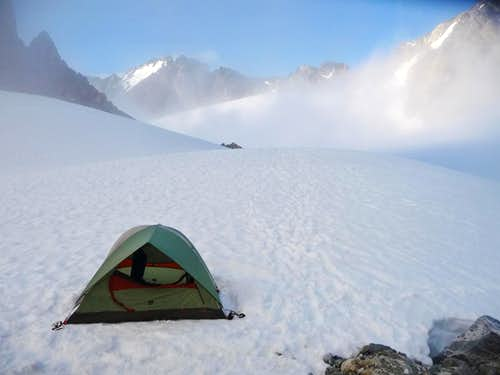 Camping on Mount Logan