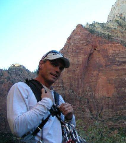 Zion at the base of moonlight buttress