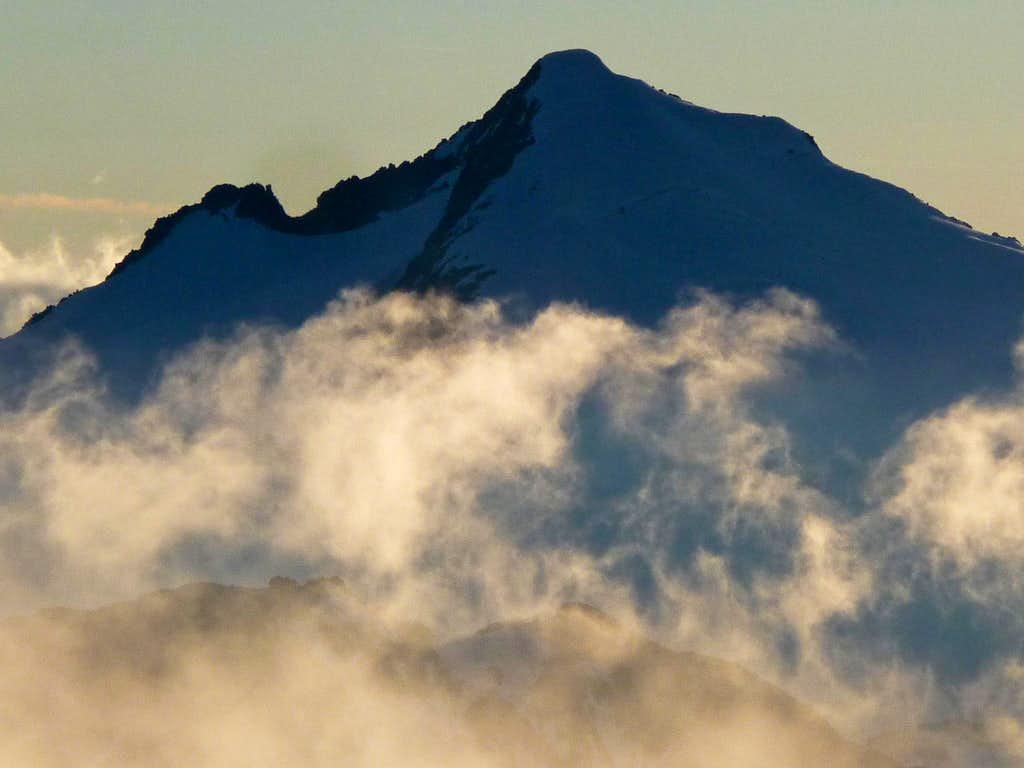 Eldorado Peak with Rising Clouds
