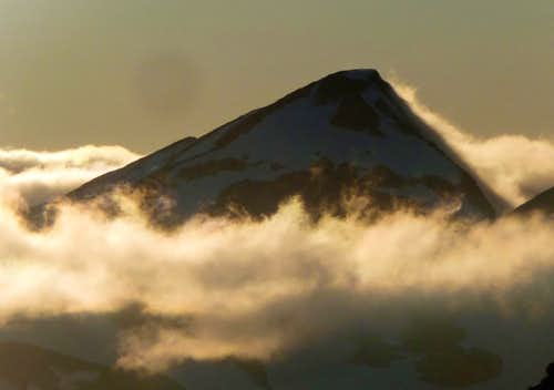 Primus Peak with Clouds
