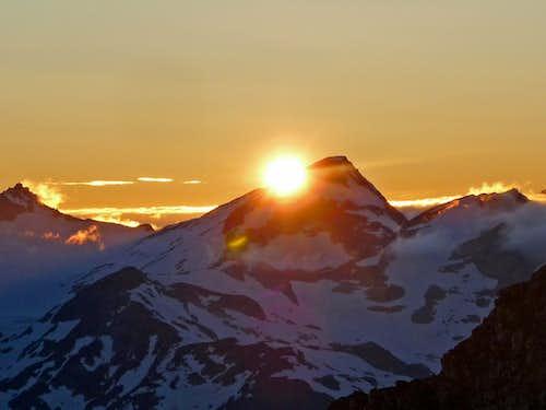 Sun Setting over Primus Peak