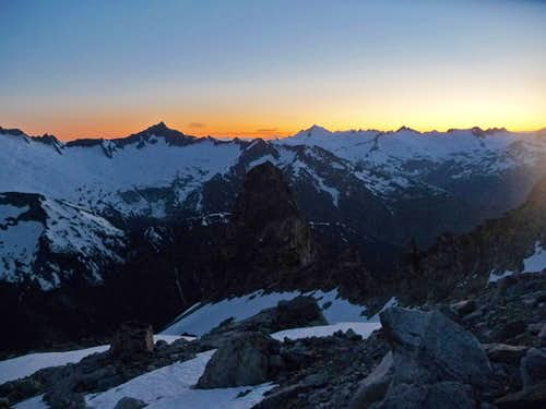 Evening on Mount Logan
