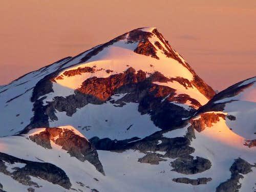 Primus Peak during Sunrise