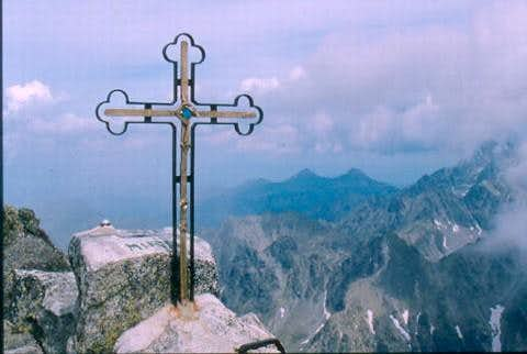 The summit cross on...