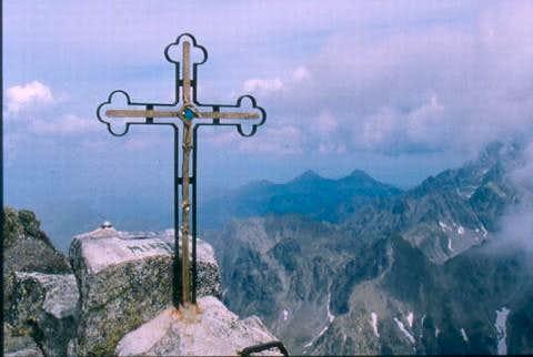 The summit cross on...
