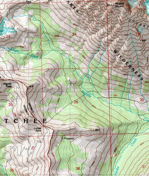 Cascadian Couloir Topographic Map