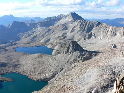 Pierre Lakes and Snowmass Mountain, from Capitol Peak