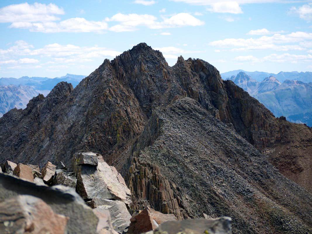 Looking east towards Mt. Wilson from the summit of El Diente