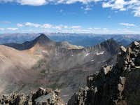 Wilson Peak and Gladstone, from El Diente