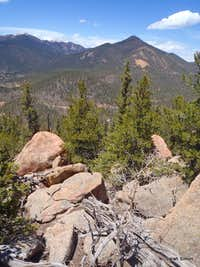 North from summit boulders