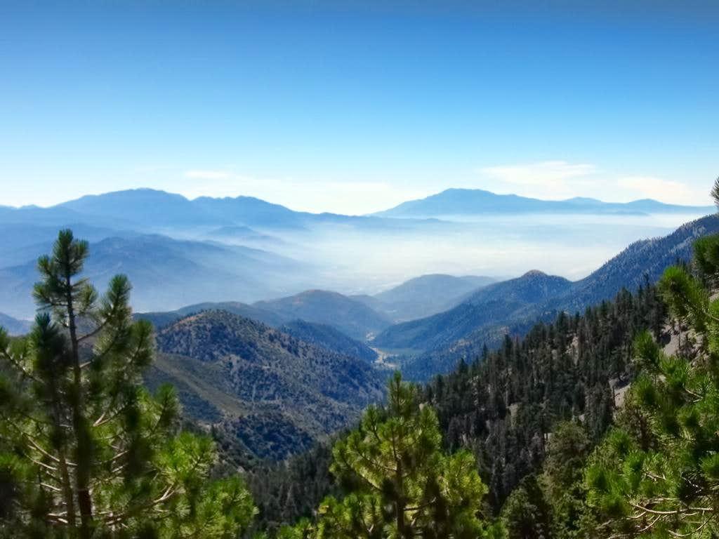 Distant San Bernardino and San Jacinto Ranges