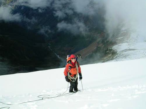 Eileen on the Ruth Glacier,...