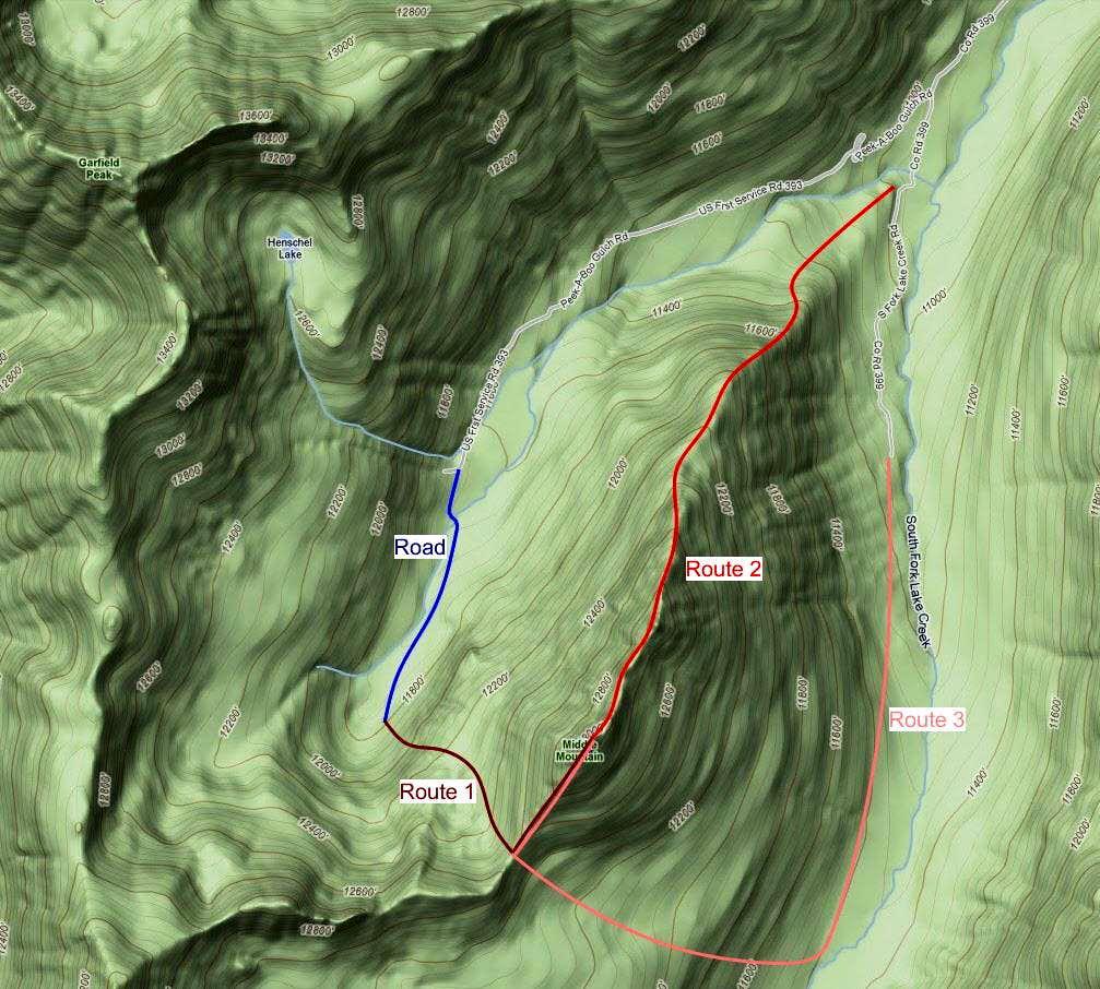 Middle Mountain Routes