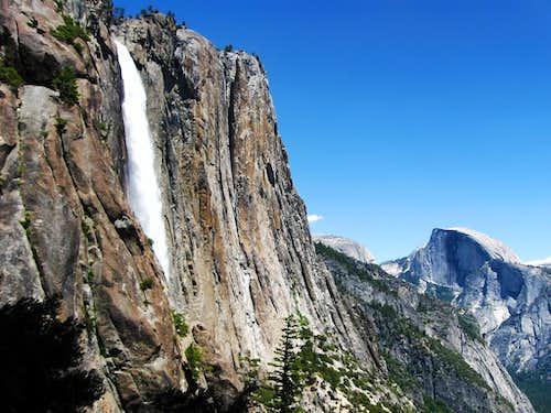 Upper Yosemite Fall and Half Dome