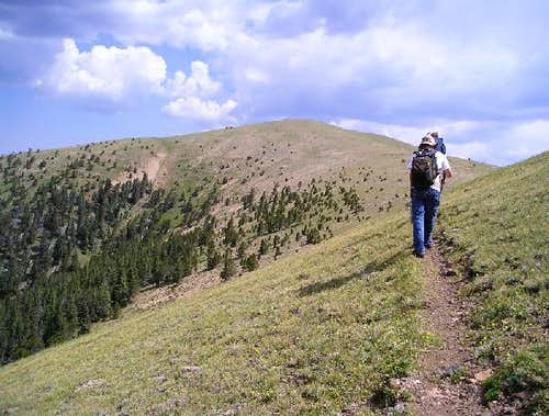 Hiking above treeline on...