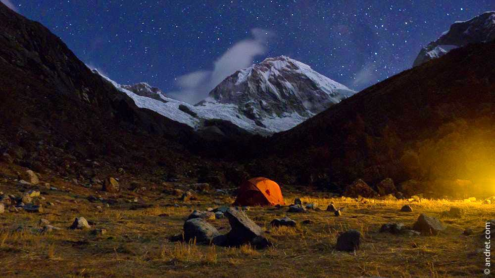 Huasaran Sur from Chopi Base camp