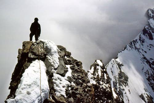 Rocky section on Tasch-Dom traverse