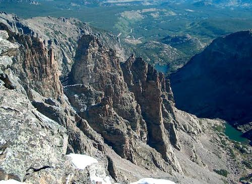 The Cathedral Spires from Taylor Peak