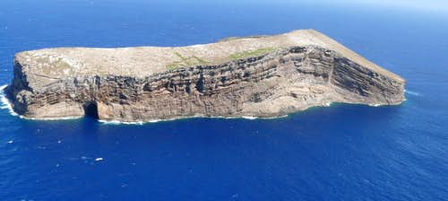 Kaula Rock, aerial view from the west