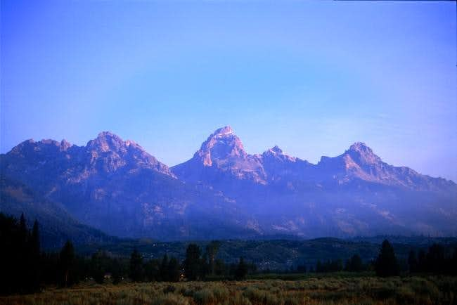 Grand Teton from the road at...