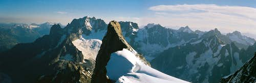 Panoramic View of Aiguille Verte