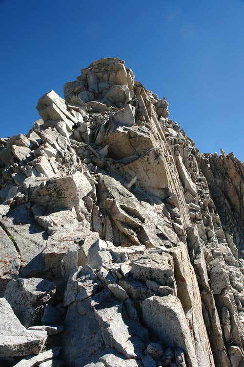 The upper section of  S  Ridge