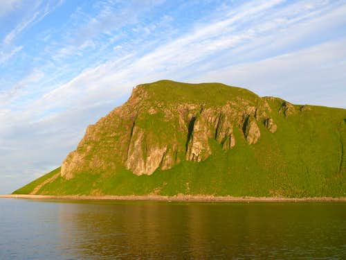 Amagat Island at Sunset.