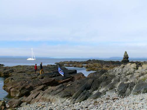 Landing on Amagat Island