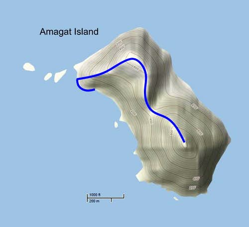 Route to Amagat Peak