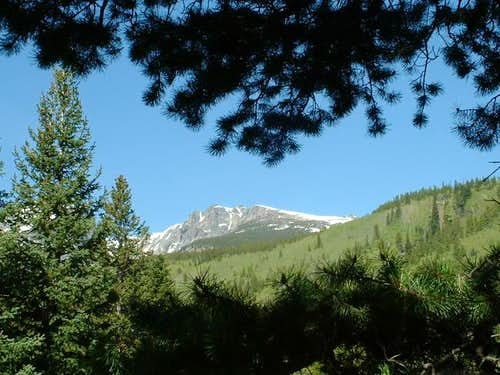 6/4/04: Flattop Mountain from...
