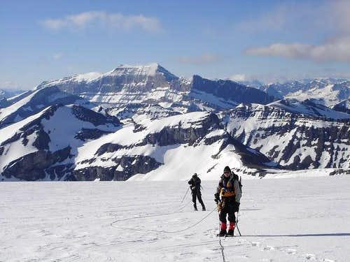 Low down on the Brazeau Icefield