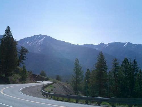 Galena Peak seen rising...