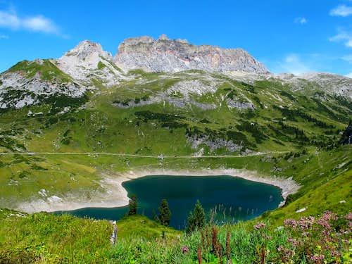 Lake Formarin and Rote Wand (2704m)