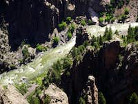 Gunnison River Flows through the Canyon