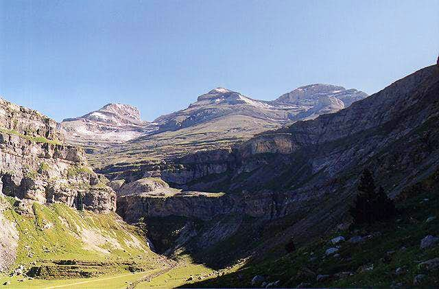 Ordesa Valley. From left to...