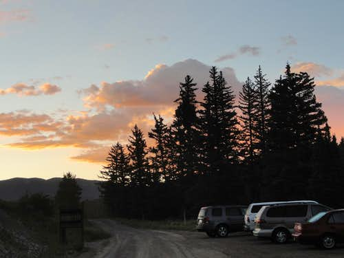Sunrise at the trailhead