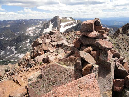 Eagles Nest summit cairn.