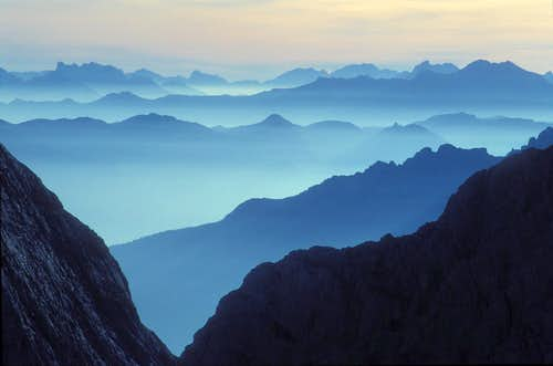chains of Southern Carnic Alps