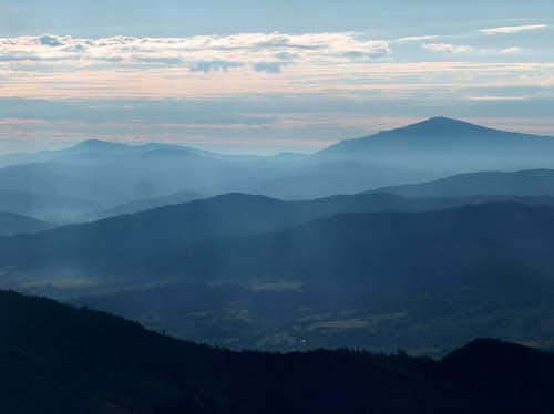 Babia Góra and Pilsko from the top of Barania Góra