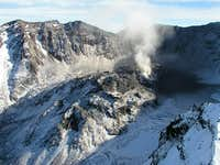 Mount St. Helens crater and...