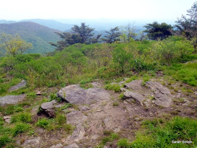 Rocky slabs provide fine overlooks
