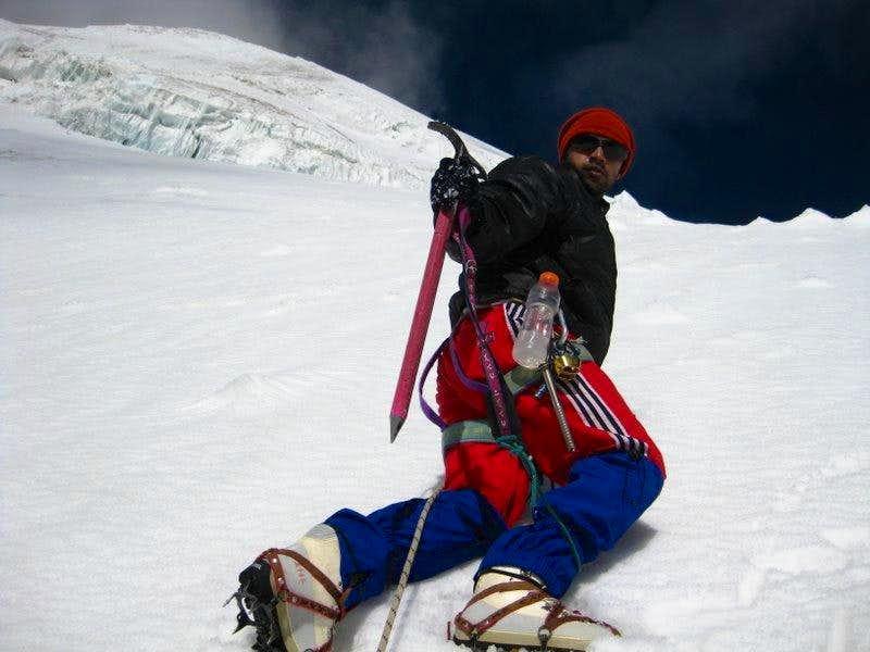 Just short of summit