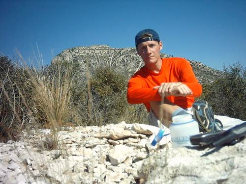 Sitting on the summit of El...