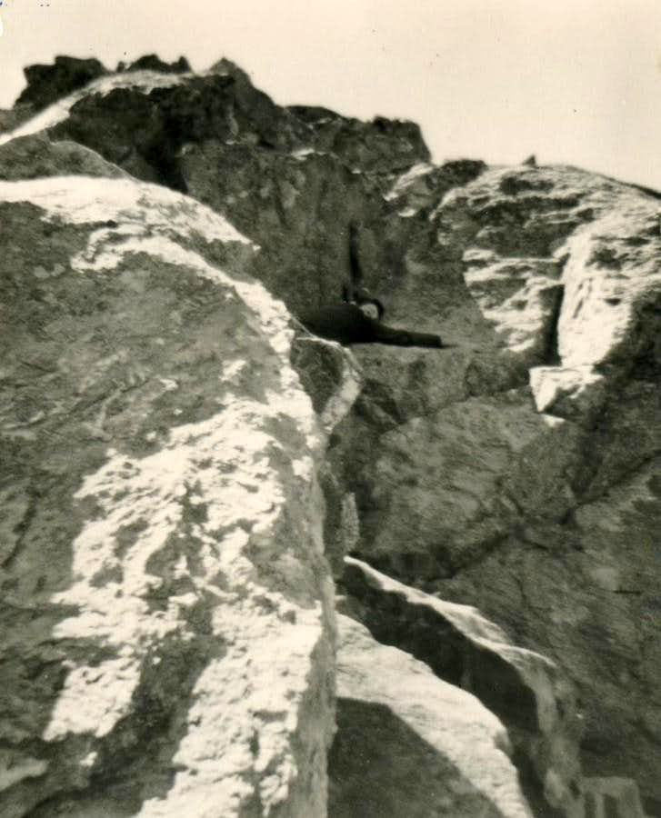 Direct and Hard Descent from Arpisson's Western Glacier to Sources of Mount Emilius July 1965
