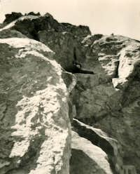 Direct and Hard Descent from Arpisson s Western Glacier to Sources of Mount Emilius July 1965