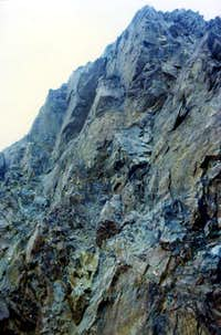 Punta Rossa East Face final part from NE Crest 1974