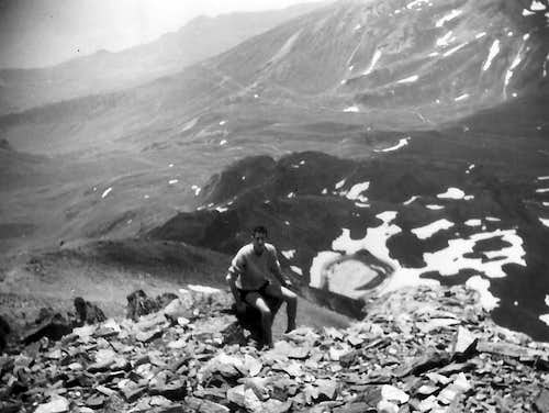From Summit of Mont Fallère to Dead Loch June 1965 In Day from Aosta Town