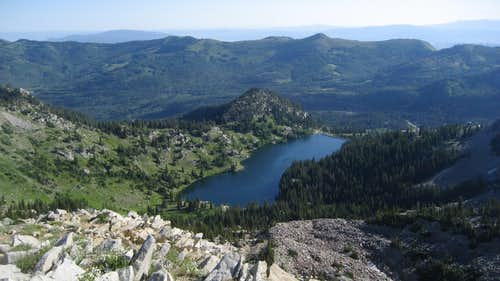 View of Twin Lakes from Top