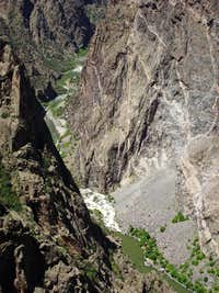 Straight Down to the Gunnison River